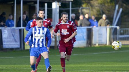 Jordan Brown scored one of the goals as Eynesbury Rovers won at Edgware Town last Saturday. Picture: