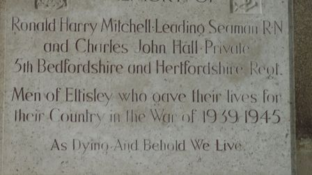 Eltisley History Society is especially keen to trace a photograph of Private Charles John Hall PIC