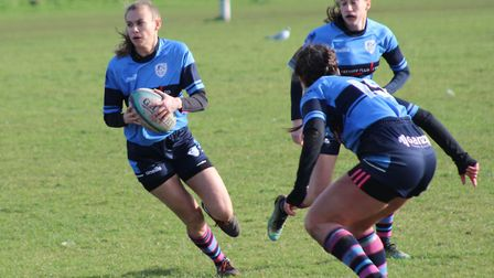 Emily Miller touched down for a try as St Neots Ladies beat Royston. Picture: SUBMITTED