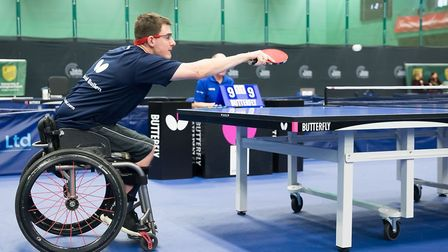 Dan Bullen in action during the England Senior National Championships. Picture: ALAN MAN