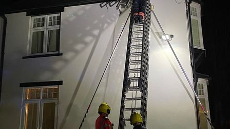 Firefighters were called to a house fire in Holywell yesterday. PICTURE: Cambs Fire service