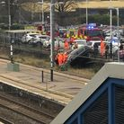 The fire service are currently at St Neots train station. PICTURE: Sam Glass