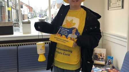 Fundraiser Ben Petrie on his daffodil appeal PICTURE: Archant