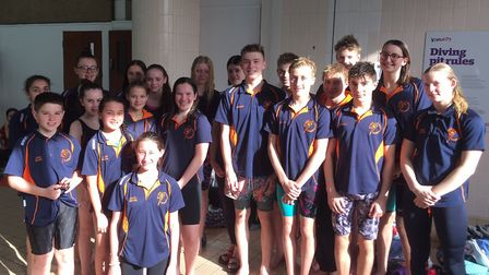 St Ives swimmers at the City of Peterborough Open Meet. Picture: SUBMITTED