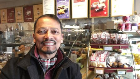 Chan Abraham in Costa Coffee, Huntingdon High Street in preparation for the event. PICTURE: Contri