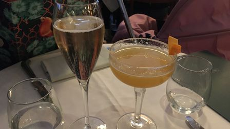 Cocktails at The Ivy in St Albans.