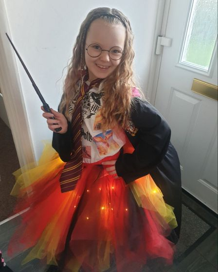 Brooke mccallion aged 7 world book day at crosshall juniors school dressed as Harry Potter book fair