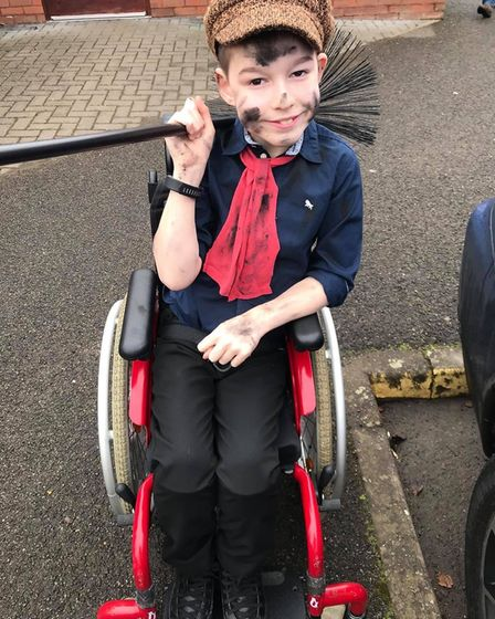 Zac Smith of Offord Darcy dressed up as Birt from Mary Poppins