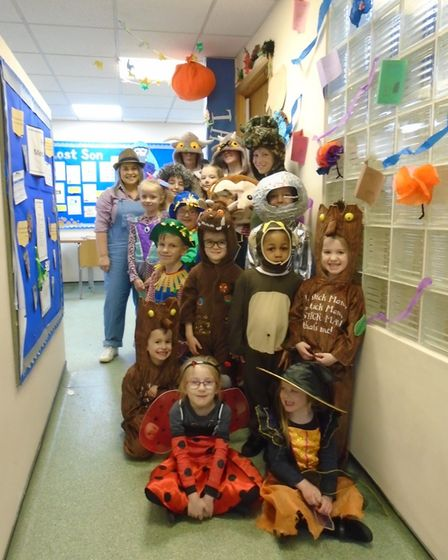 St Mary's C of E Primary Academy for World Book Day the school chose to dress up as characters from