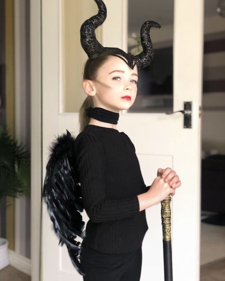 Beau Smith from Monkfield park primary school in Cambourne dressed up as Maleficent PICTURE: Mart