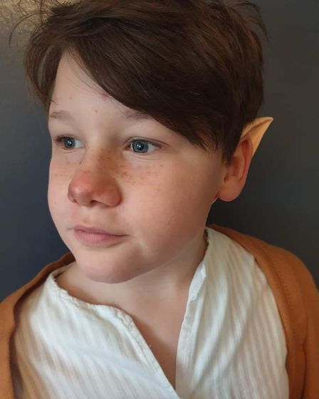 Teddy Booker, he is 10 years old. He is an Elf from Lord of the Rings PICTURE: Ixchel Phillips