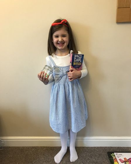 Elsie Parkinson as Matilda for world book day aged 5. PICTURE: Carly Parkinson