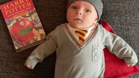 Mini Harry Potter Jack Greaves, aged 6 weeks. Picture: Samantha Greaves