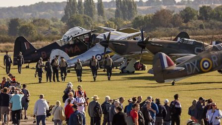 Visitors to the annual Duxford Battle of Britain Air Show enjoy up-close access to historic aircraft