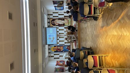 Stacey Turner and Monty Panesar from It's OK To Say visited St Columba's College.
