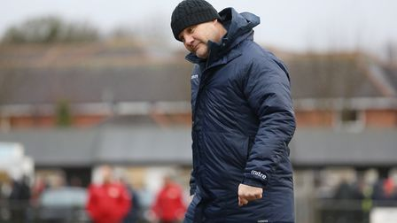 Royston manager Steve Castle. Picture: Danny Loo