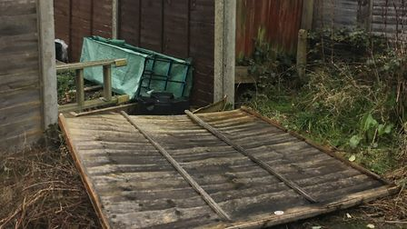 Fences have been falling down all over Herts thanks to Storm Ciara. Picture: Archant