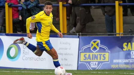 Zane Banton has been named St Albans City's player of the month for January. Picture: JIM STANDEN
