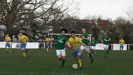 Harpenden Town fell to a narrow 2-1 loss at home to Newport Pagnell Town in the Spartan South Midlan