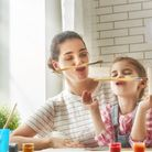 Create special memories with the kids with a fun, family arts and crafts project. Picture: Getty Ima