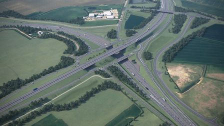 The Black Cat roundabout how it will appear when the transformation is complete