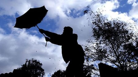 A yellow weather warning has been issued for the East of England.