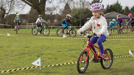 Kezia Cox in action at the final round of the Muddy Monsters series, hosted by Verulam Cycling Club
