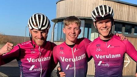 Verulam Reallymoving's Luke Houghton (right) won the Full Gas Winter Circuit Series at the Lee Valle