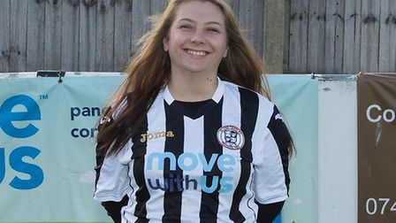 Charlene Martin when playing for St Ives Town Ladies. Picture: SUBMITTED