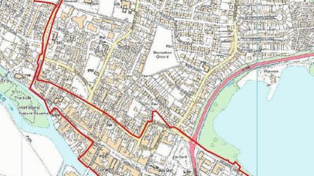 Areas inside the red boundary are covered by the PSPO requirements: Map detailing the first area to