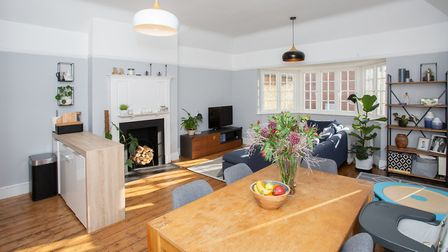 Period features include polished floorboards, a feature fireplace and unusually high ceilings. Pictu