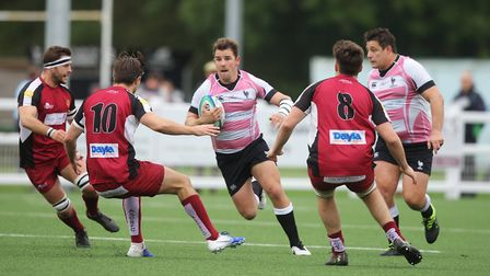 Jimmy Speirs scored two tries for Harpenden against Ruislip. Picture: KARYN HADDON