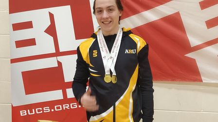 Felix Mayo of Huntingdonshire Fencing Club enjoyed a golden double at the British Universities & Col