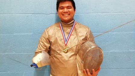 Nico Ignacio was victorious at the Cambridgeshire Sabre Championships. Picture: SUBMITTED