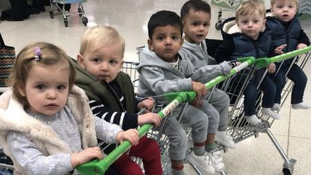 The Harpenden twins even go to the supermarket together. Picture: Supplied