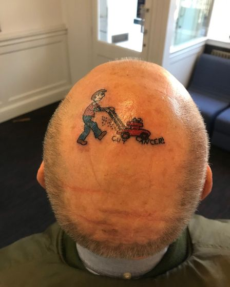 Mick hopes that the tattoo will get people talking about cancer.