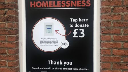 The Tap2Beat donation system in St Albans launched this week. Picture: Supplied