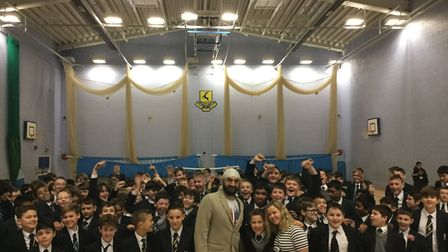 Founder of It's OK to Say, Stacey Turner at Verulam School. Picture: Supplied