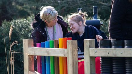 GroundworkEast opened a sensory garden at Oaklands College. Picture: Supplied