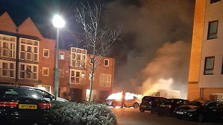 The car fire in Little Paxton was arson. PICTURE: Danyela Nicole Bolanz?