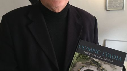 Geraint John and his new book Olympic Stadia.