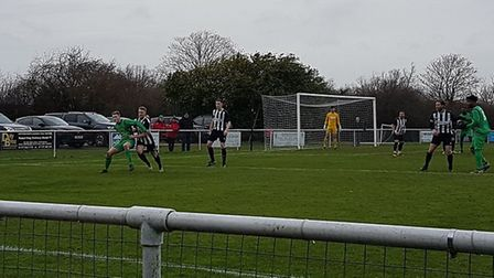 Colney Heath took on Tring Athletic at the Recreation Ground in a top against second clash in the Sp