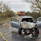 The fire service was called out to find a car alight in Ramsey on Friday.