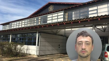 Michael Gwiasdowski, 28, was stopped by officers in Dramsell Rise, St Neots.