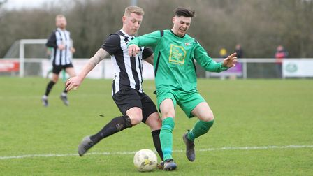 Colney Heath V Tring Athletic - Jon Clements in action for Colney Heath.Picture: Karyn Haddon