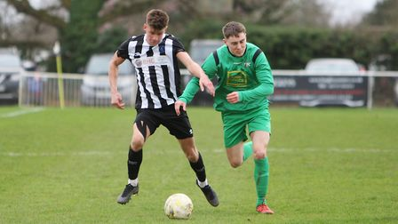 Colney Heath V Tring Athletic - Jack Woods in action for Colney Heath.Picture: Karyn Haddon
