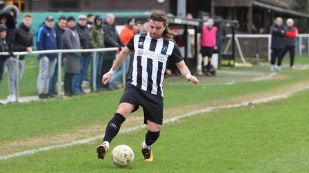 Colney Heath V Tring Athletic - Danny May in action for Colney Heath.Picture: Karyn Haddon