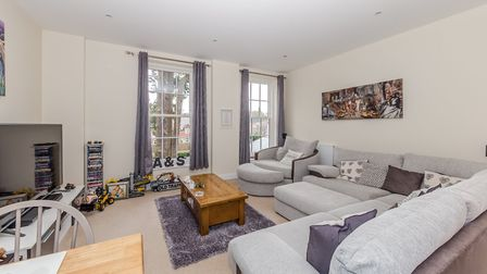 The open plan living room spans the length of the property. Picture: Ashtons
