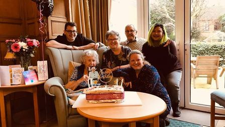 Beryl Leake celebrated her 100th birthday in Harpenden. Picture: Supplied