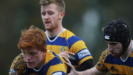George Saunders was among the scorers for St Albans against Saracens Amateurs. Picture: KARYN HADDON